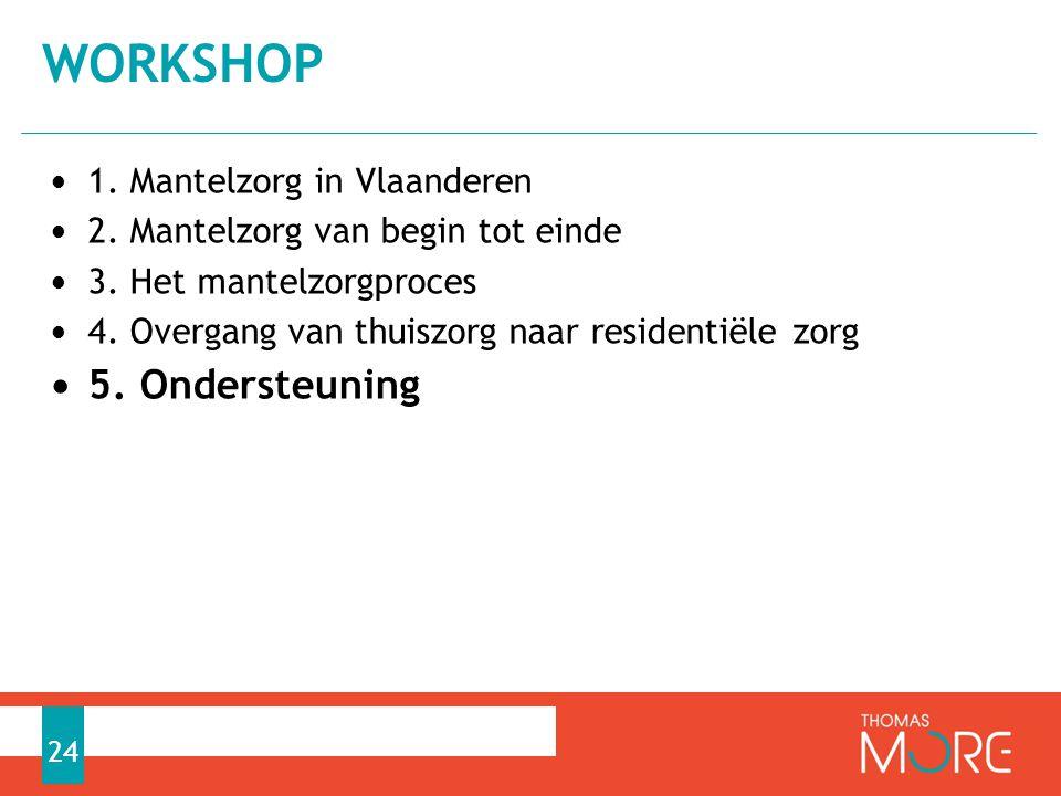 workshop 5. Ondersteuning 1. Mantelzorg in Vlaanderen