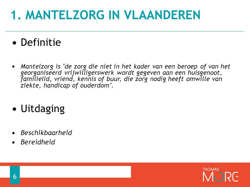 1. Mantelzorg in Vlaanderen