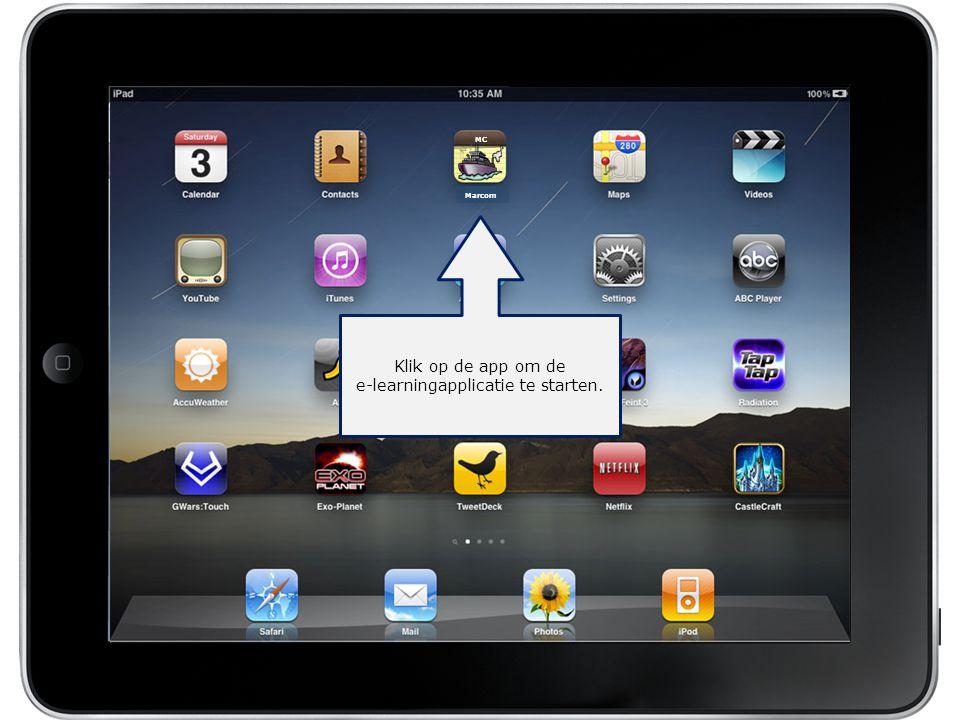 Klik op de app om de e-learningapplicatie te starten.