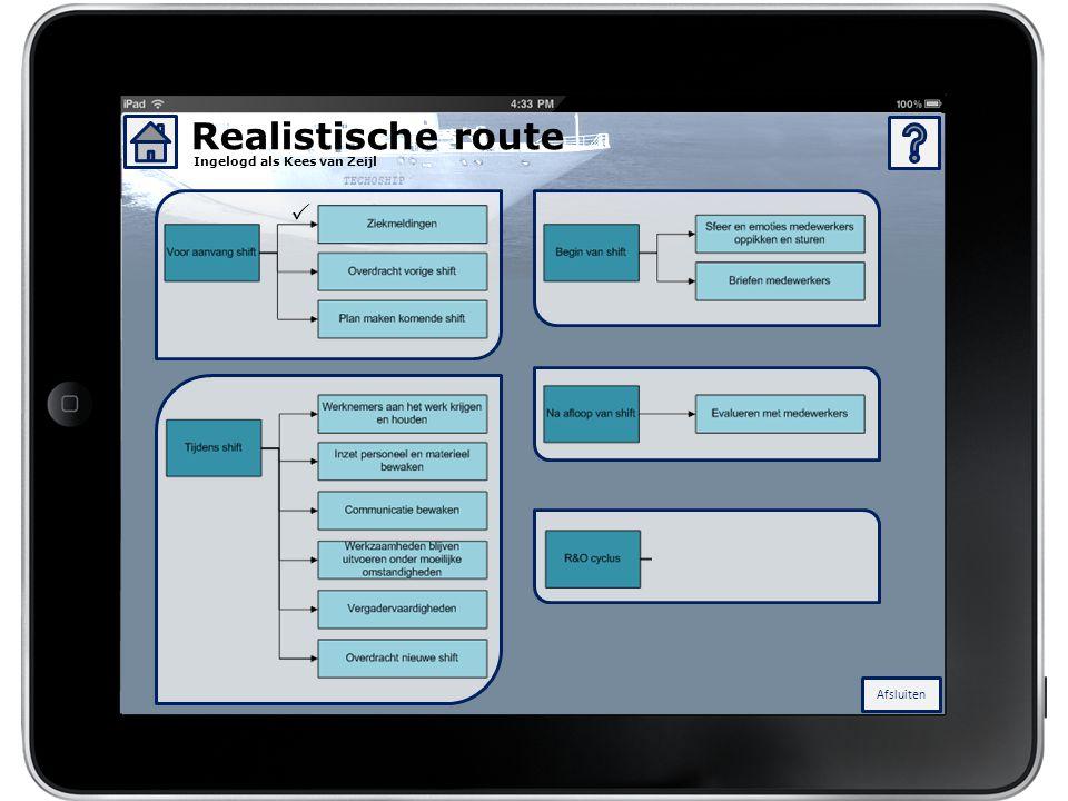 Realistische route 