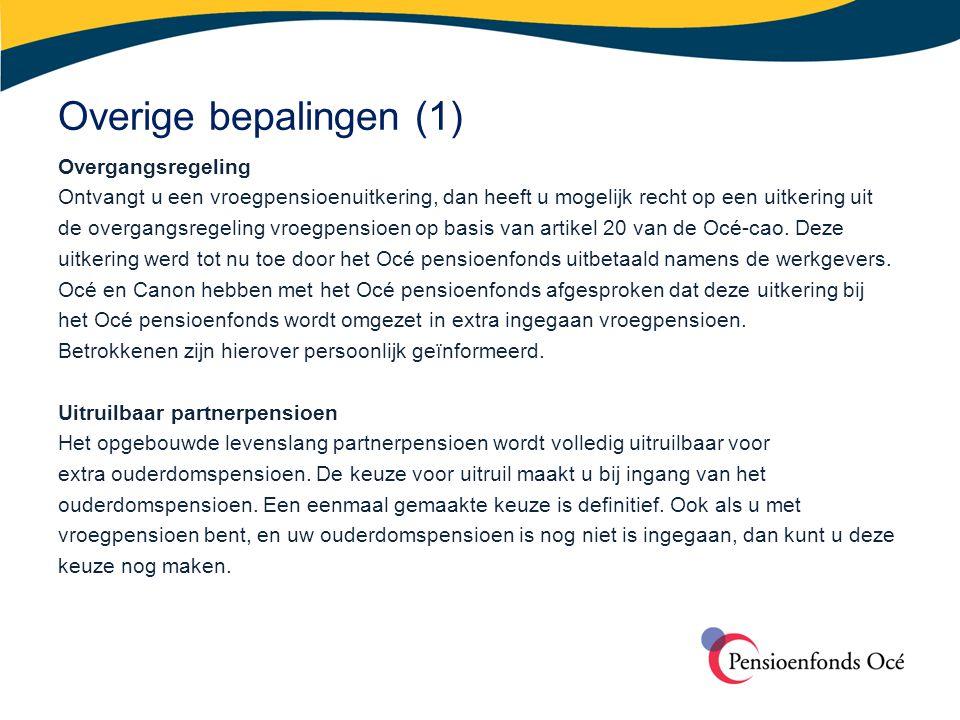 Overige bepalingen (1)