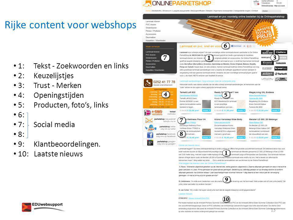 Rijke content voor webshops