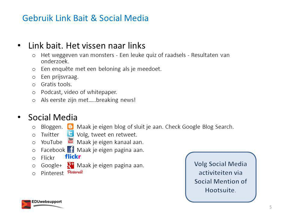 Volg Social Media activiteiten via Social Mention of Hootsuite.
