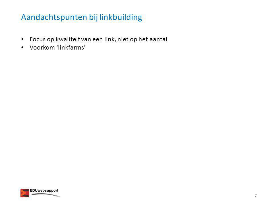 Aandachtspunten bij linkbuilding