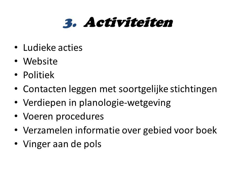 3. Activiteiten Ludieke acties Website Politiek