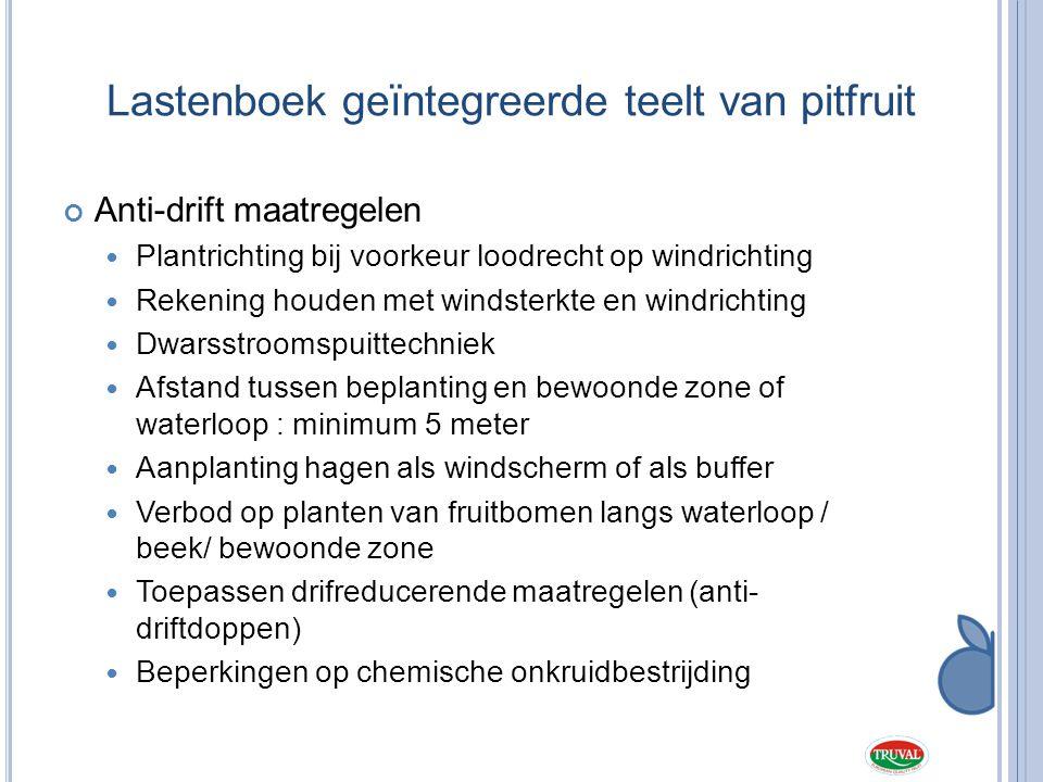 Lastenboek geïntegreerde teelt van pitfruit