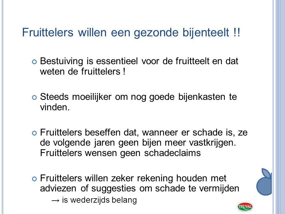 Fruittelers willen een gezonde bijenteelt !!