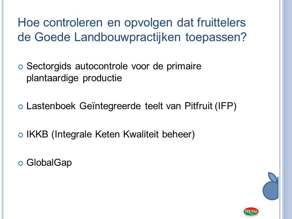 Hoe controleren en opvolgen dat fruittelers de Goede Landbouwpractijken toepassen