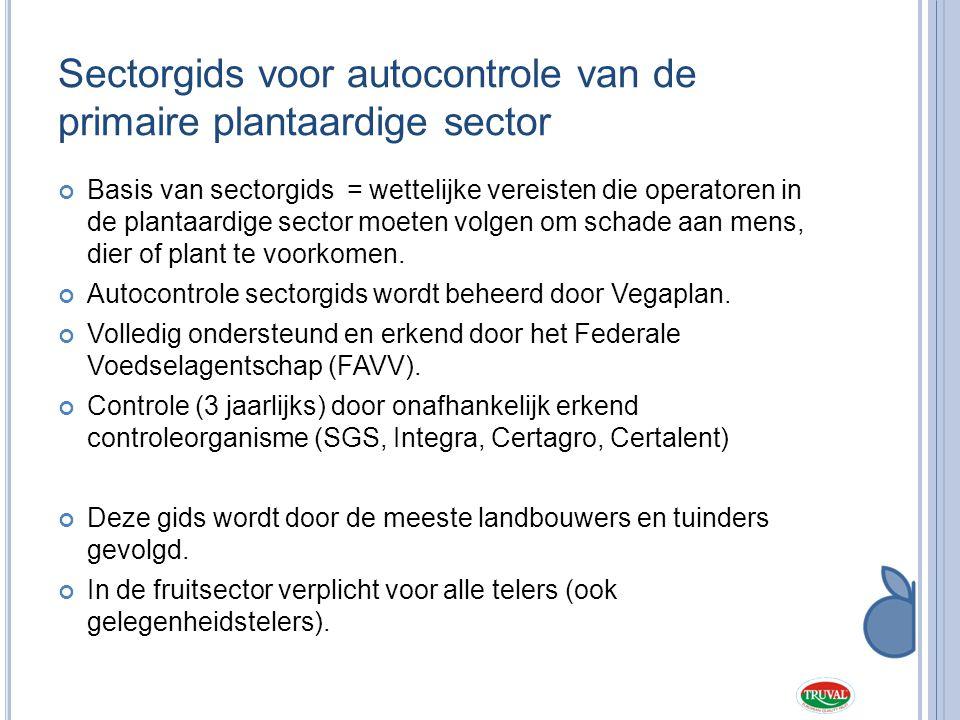 Sectorgids voor autocontrole van de primaire plantaardige sector
