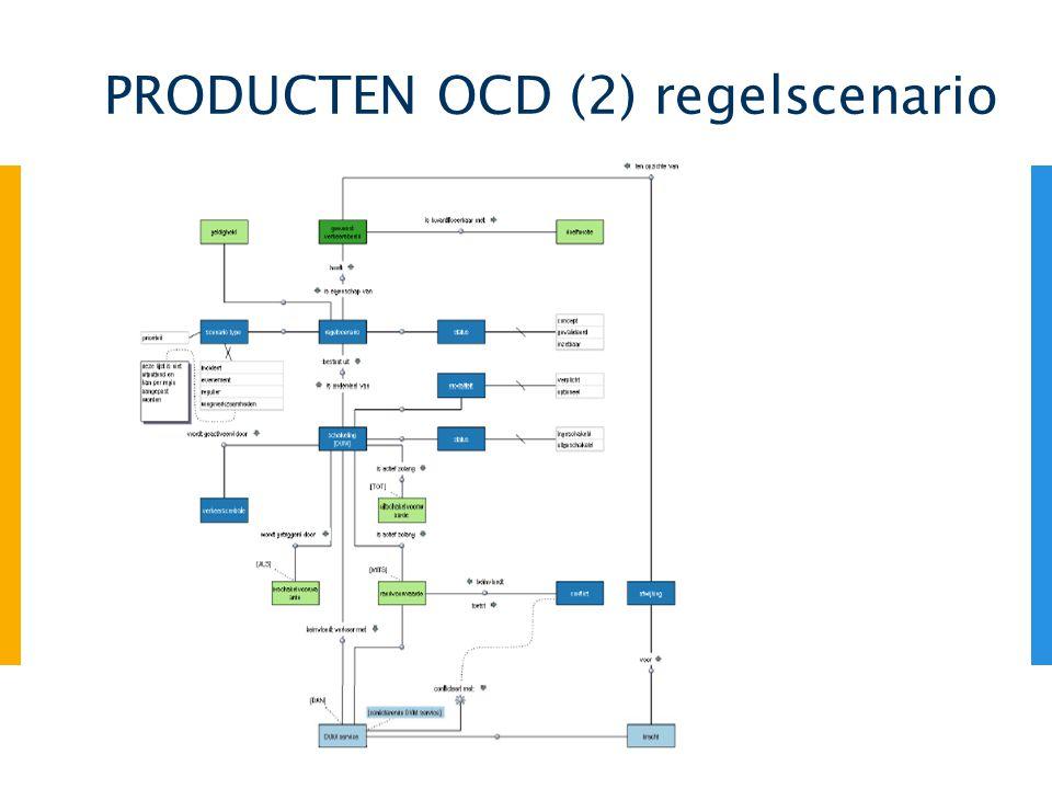 PRODUCTEN OCD (2) regelscenario