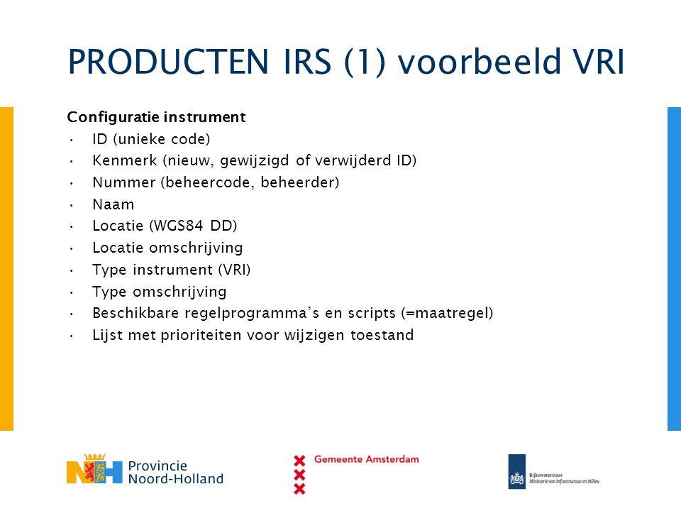 PRODUCTEN IRS (1) voorbeeld VRI