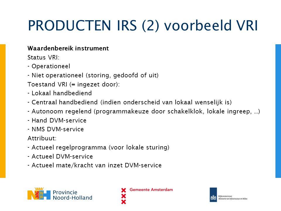 PRODUCTEN IRS (2) voorbeeld VRI