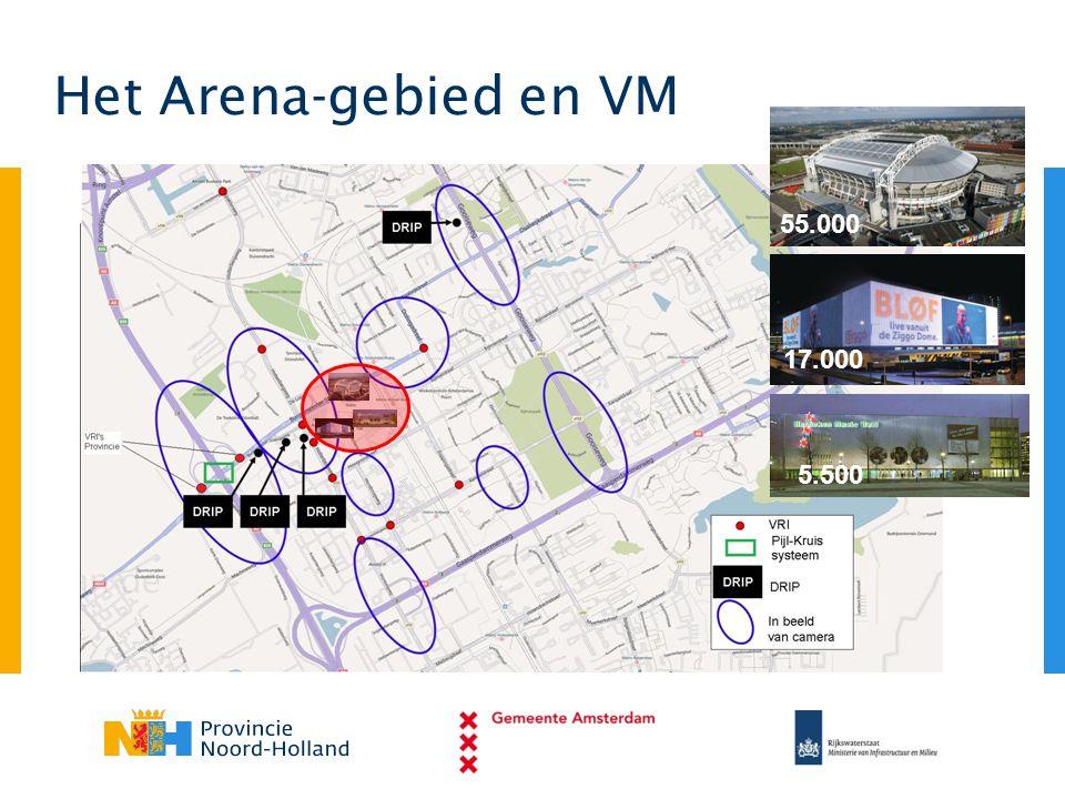 Het Arena-gebied en VM 55.000 17.000 5.500