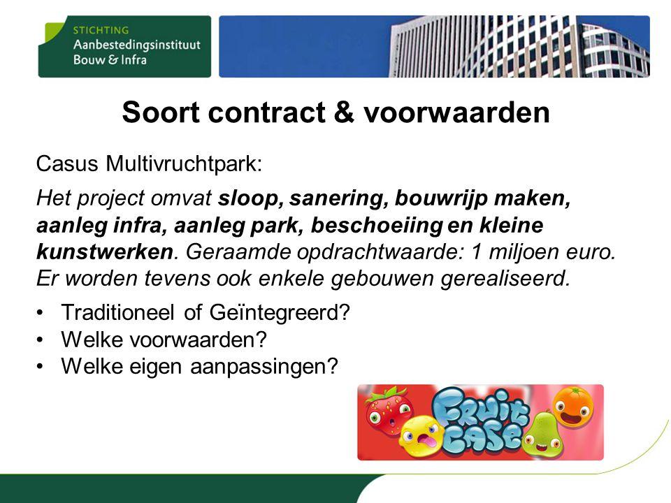 Soort contract & voorwaarden