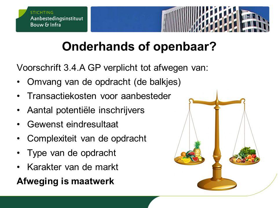 Onderhands of openbaar