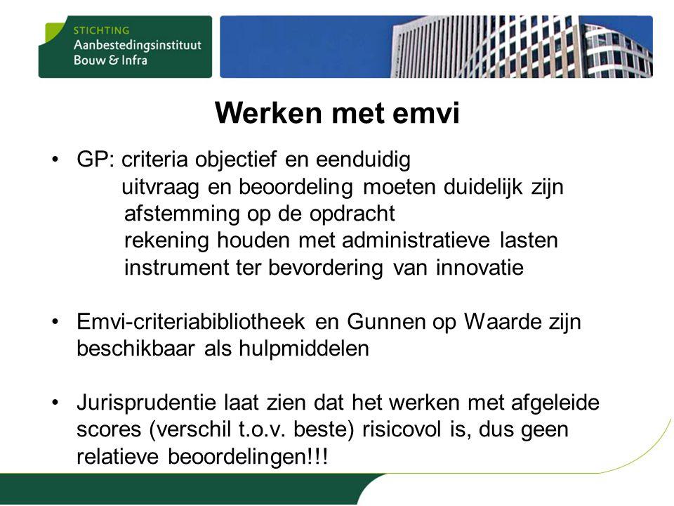 Werken met emvi GP: criteria objectief en eenduidig