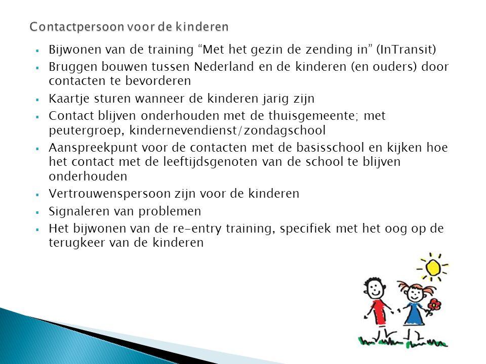Contactpersoon voor de kinderen