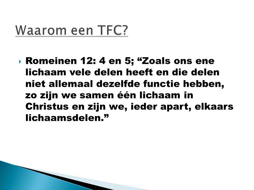 Waarom een TFC
