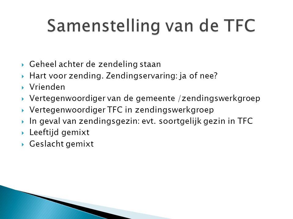 Samenstelling van de TFC