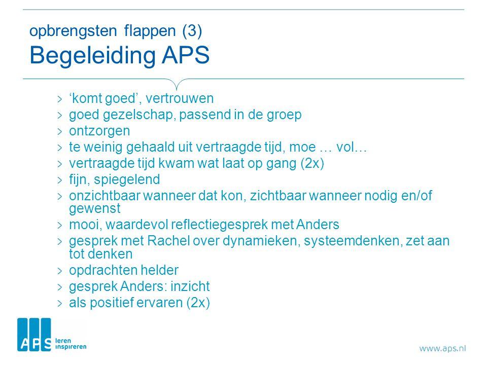 opbrengsten flappen (3) Begeleiding APS
