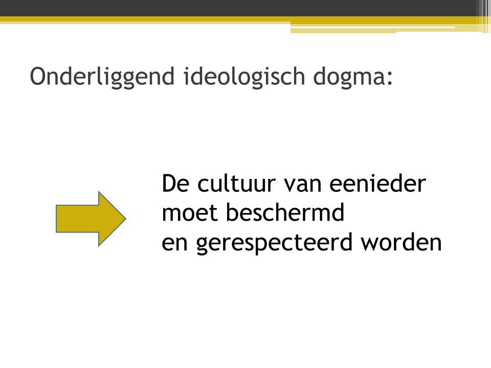 Onderliggend ideologisch dogma: