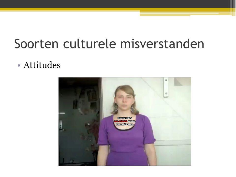 Soorten culturele misverstanden