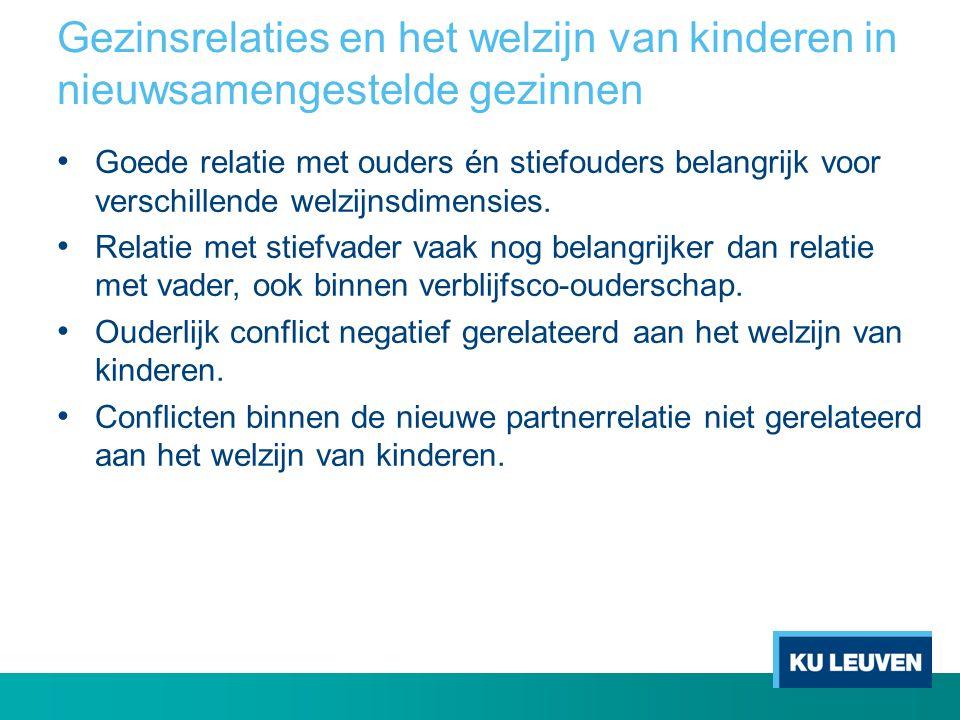 Gezinsrelaties en het welzijn van kinderen in nieuwsamengestelde gezinnen