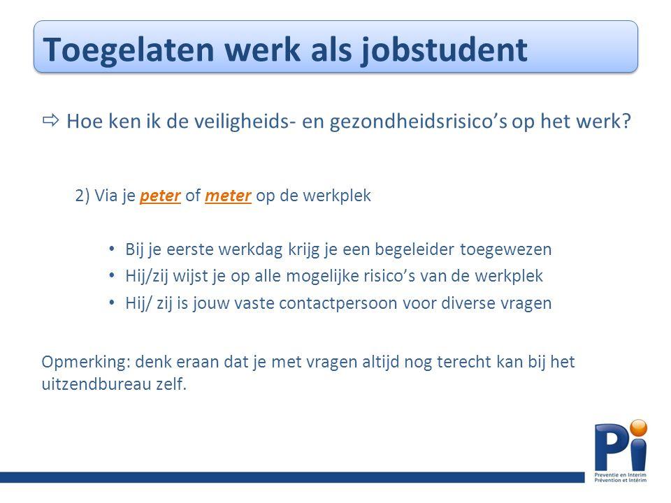 Toegelaten werk als jobstudent