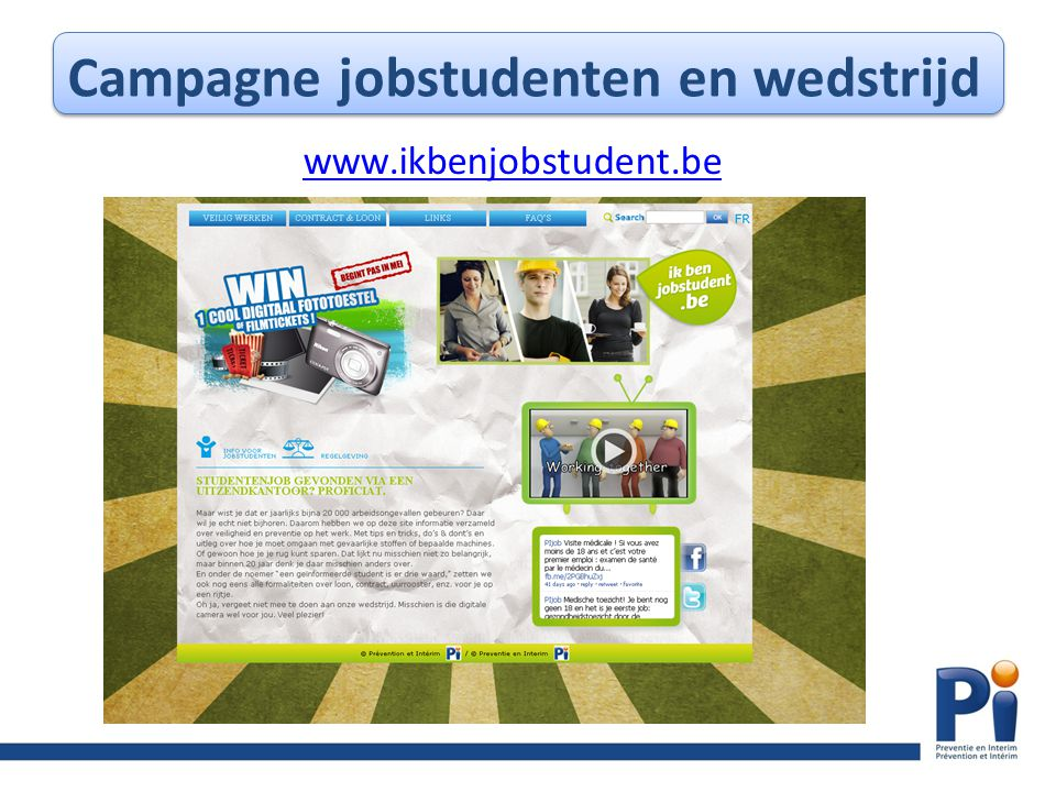Campagne jobstudenten en wedstrijd