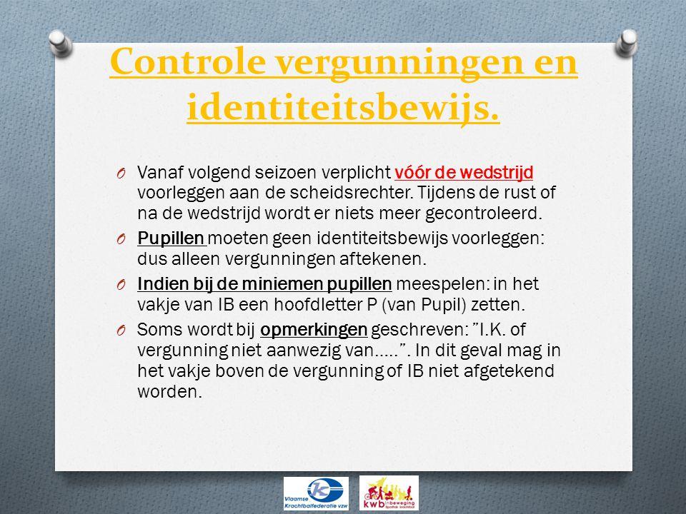 Controle vergunningen en identiteitsbewijs.