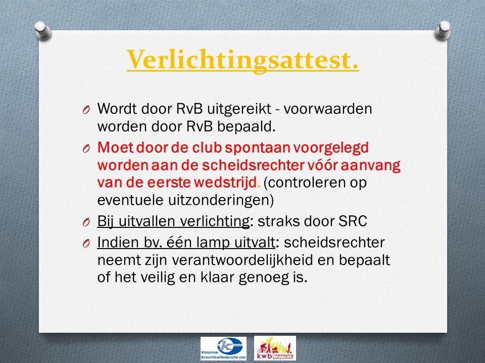 Verlichtingsattest. Wordt door RvB uitgereikt - voorwaarden worden door RvB bepaald.