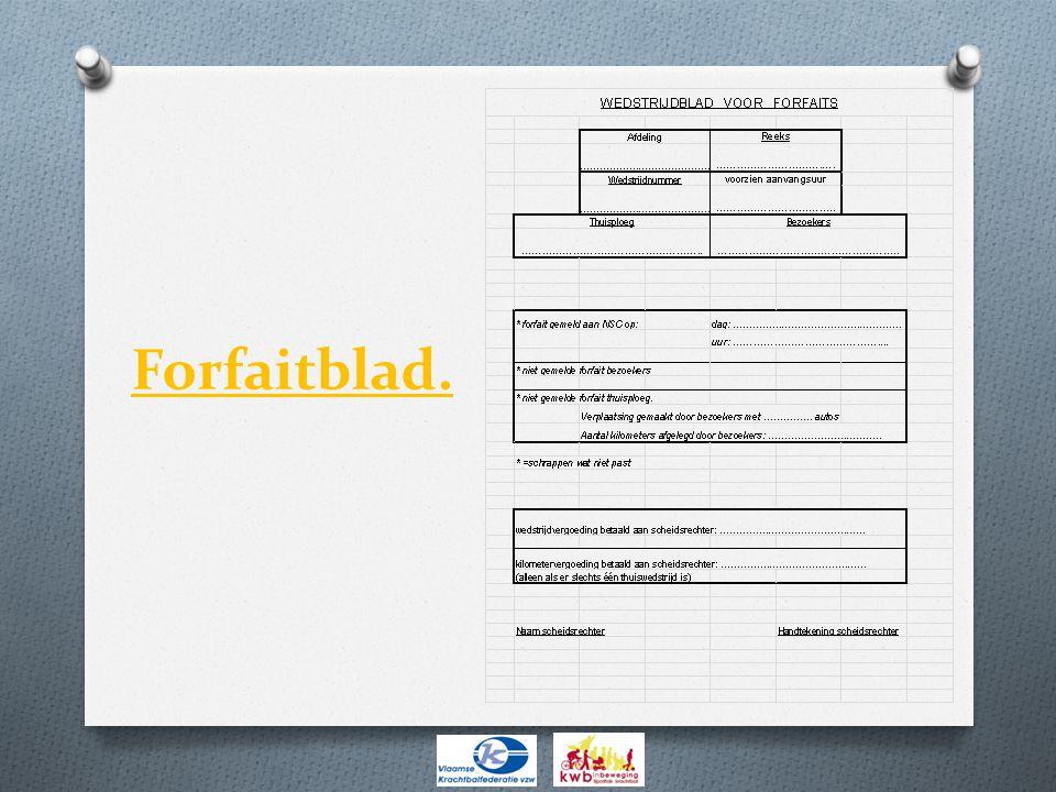 Forfaitblad.
