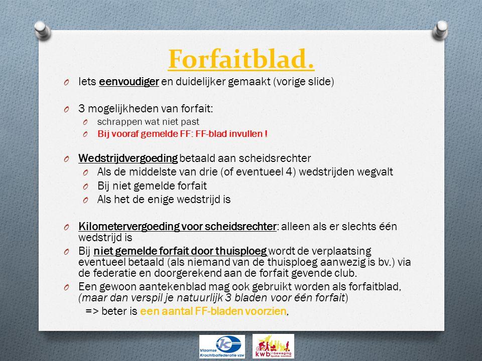 Forfaitblad. Iets eenvoudiger en duidelijker gemaakt (vorige slide)
