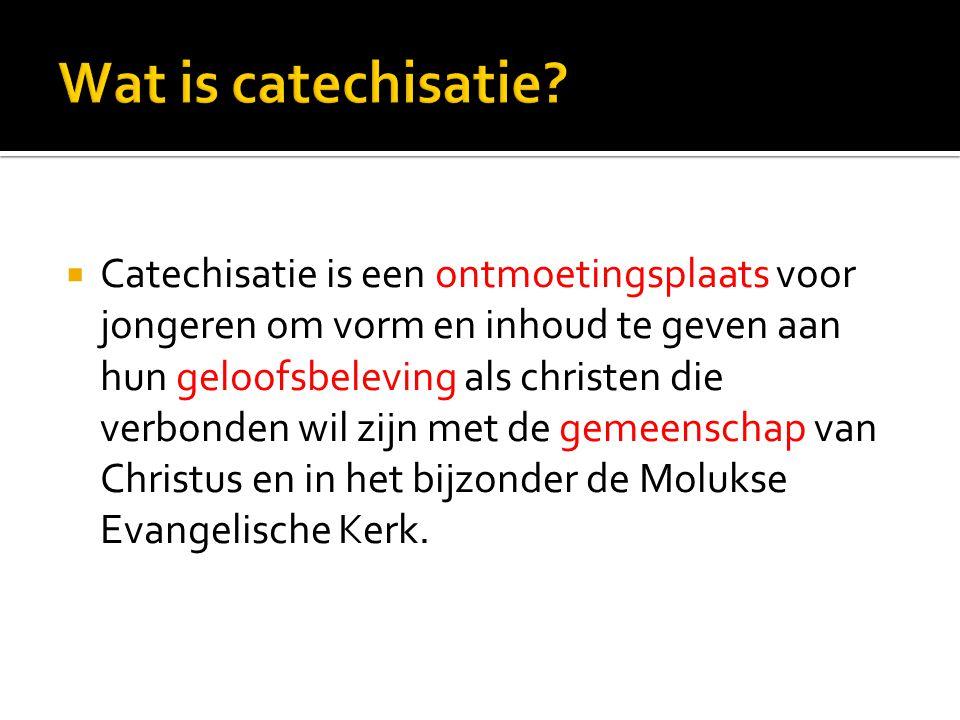 Wat is catechisatie