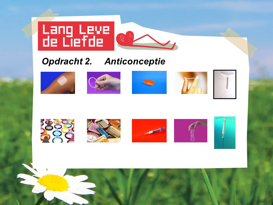 Opdracht 2. Anticonceptie