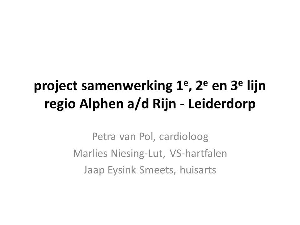 project samenwerking 1e, 2e en 3e lijn regio Alphen a/d Rijn - Leiderdorp