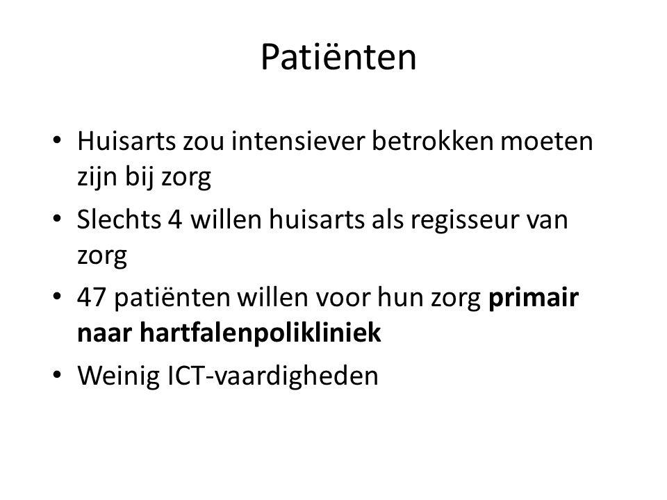 Patiënten Huisarts zou intensiever betrokken moeten zijn bij zorg
