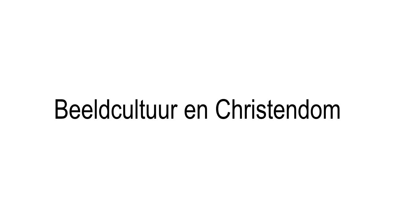 Beeldcultuur en Christendom