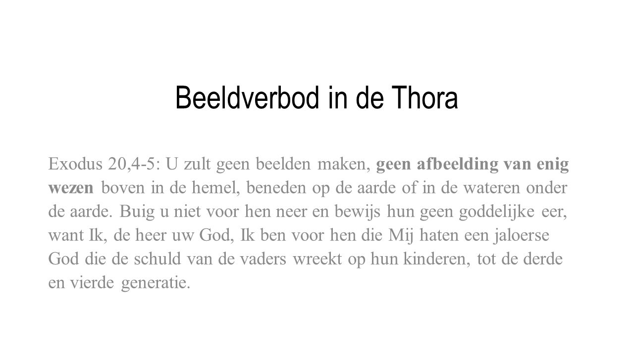 Beeldverbod in de Thora