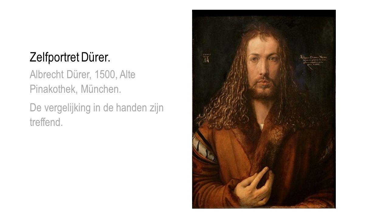 Zelfportret Dürer. Albrecht Dürer, 1500, Alte Pinakothek, München.