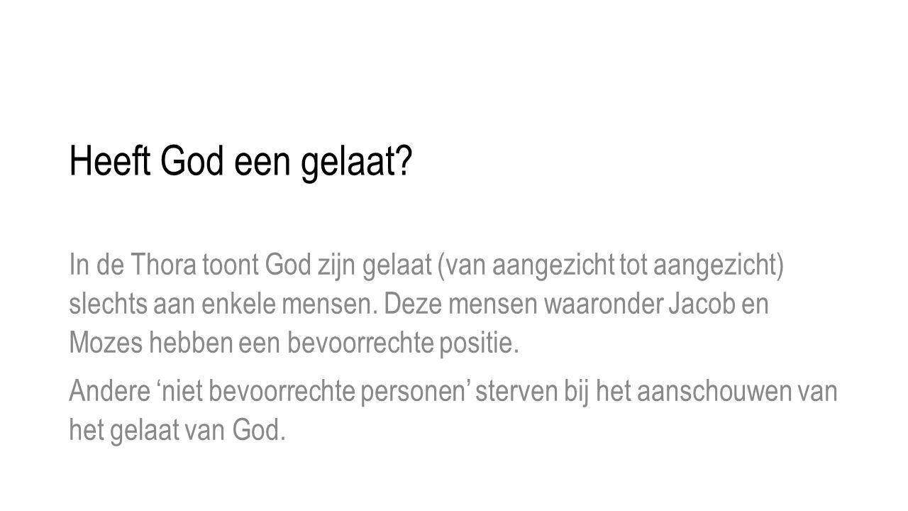 Heeft God een gelaat