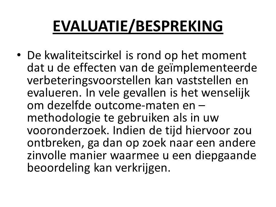 EVALUATIE/BESPREKING