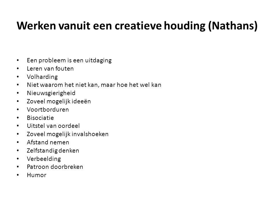 Werken vanuit een creatieve houding (Nathans)
