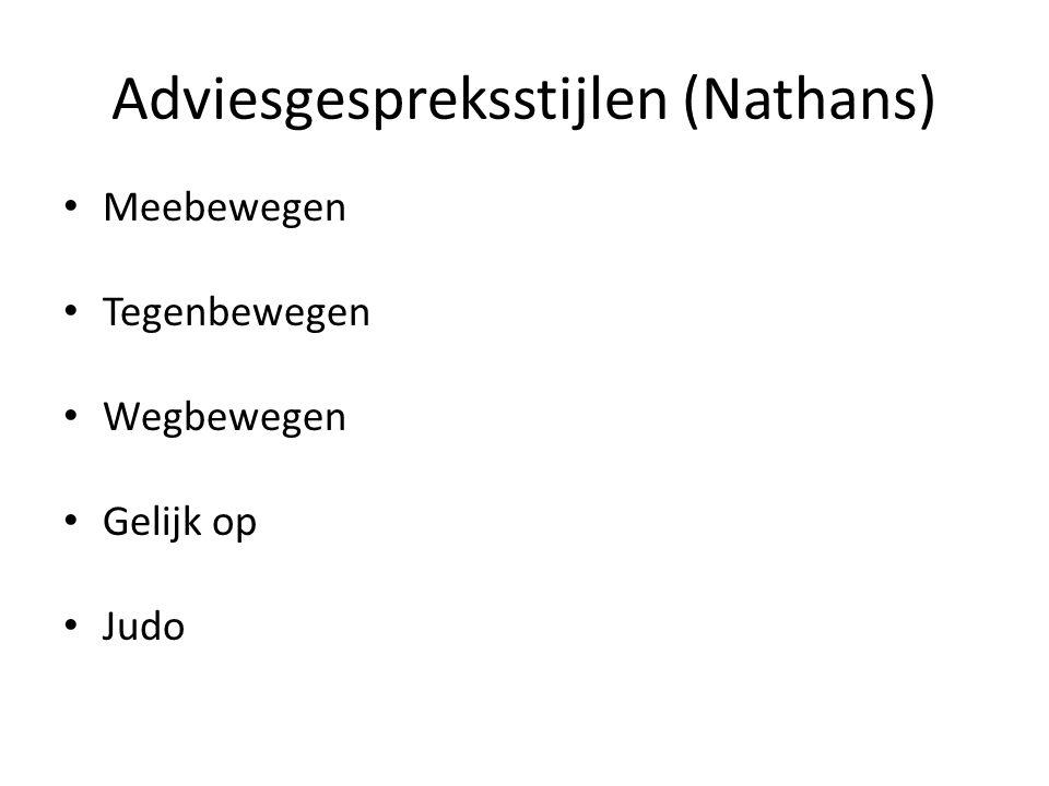 Adviesgespreksstijlen (Nathans)