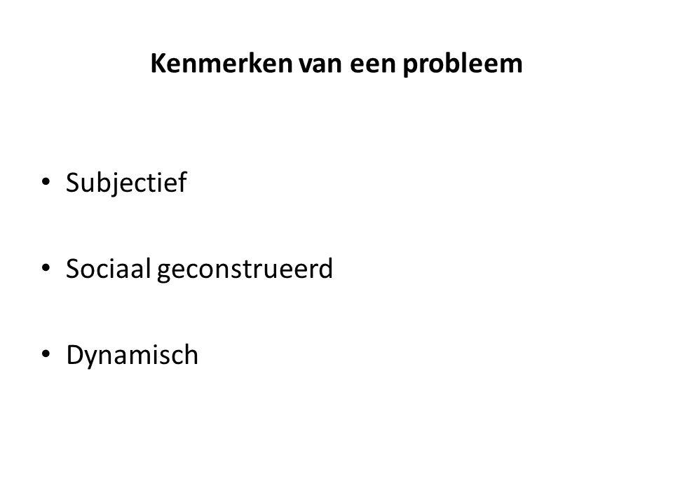 Kenmerken van een probleem