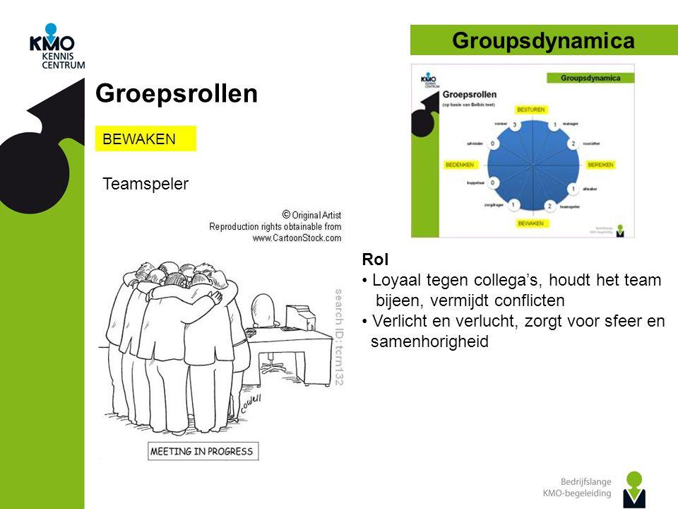 Groepsrollen Groupsdynamica Teamspeler Rol
