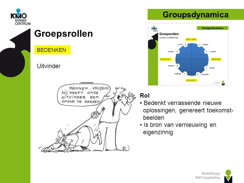 Groepsrollen Groupsdynamica Uitvinder Rol Bedenkt verrassende nieuwe