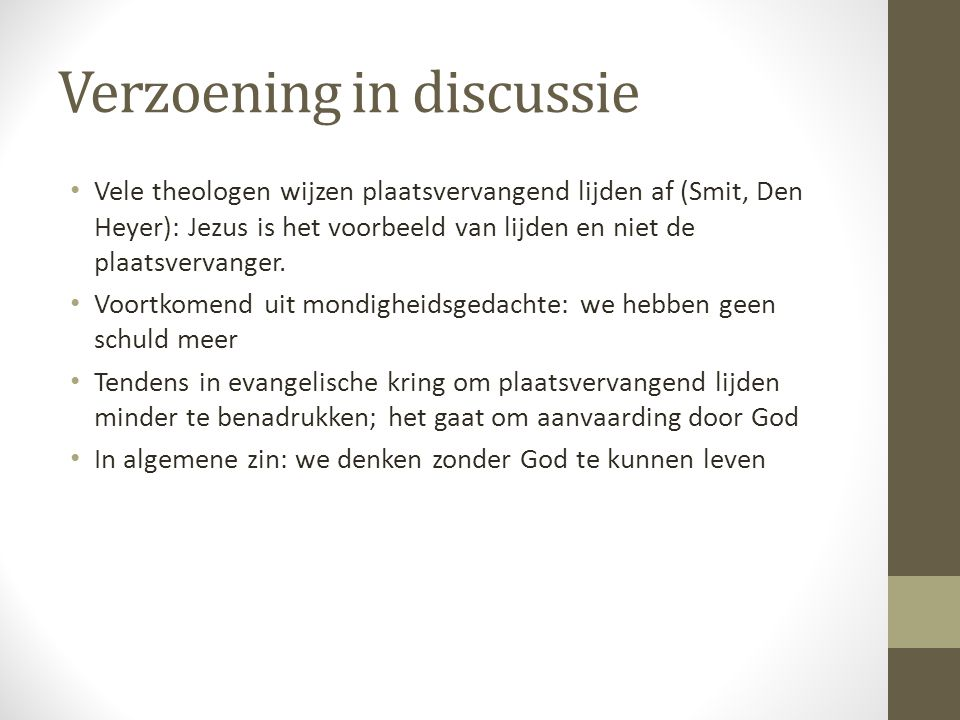 Verzoening in discussie