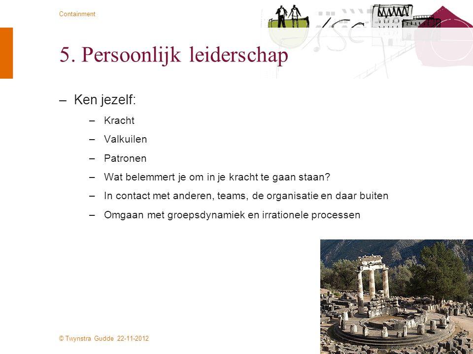 5. Persoonlijk leiderschap
