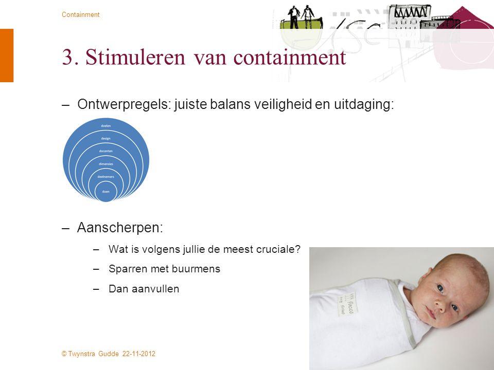 3. Stimuleren van containment